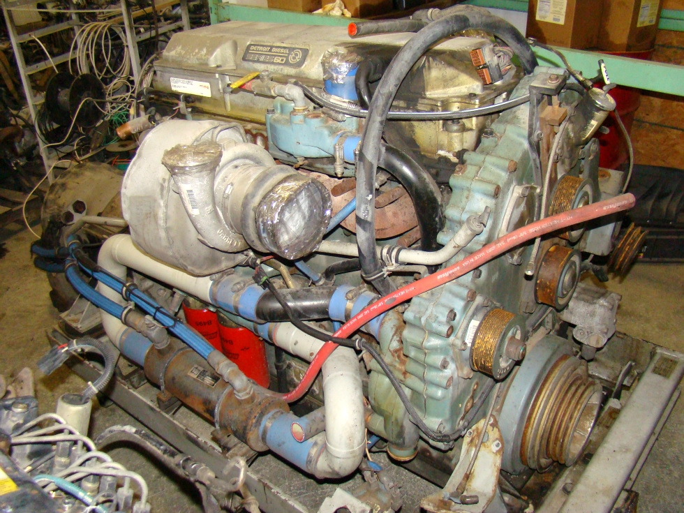 USED 1997 12.7L DETROIT SERIES 60 DIESEL ENGINE 500HP FOR SALE **SOLD** RV Chassis Parts