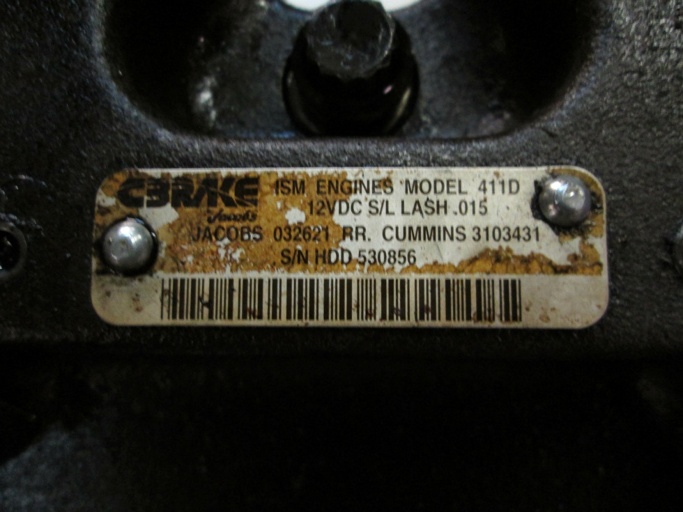 USED CUMMINS ISM JAKE BRAKE MODEL 411D P/N 3103431 FOR SALE RV Chassis Parts