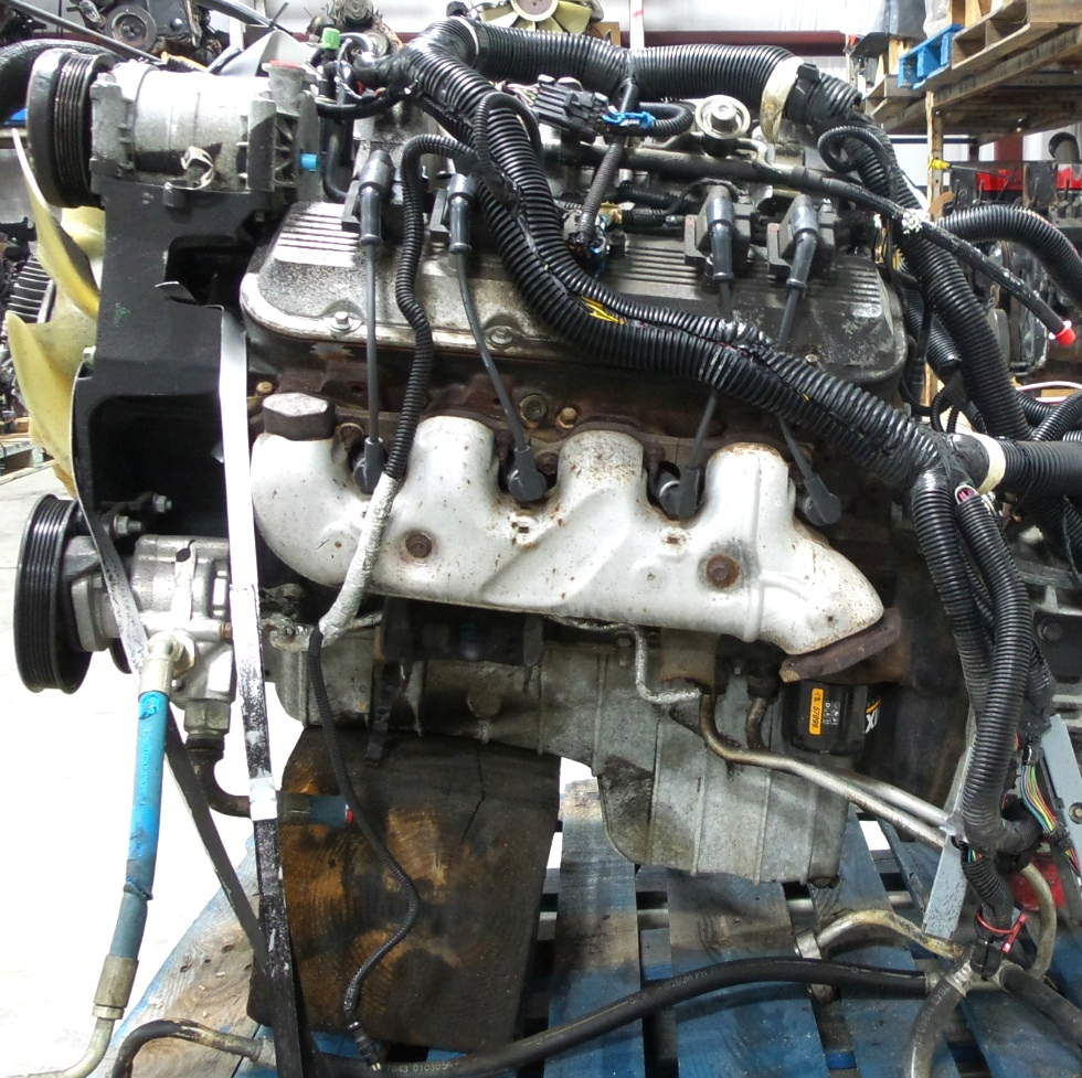 Rv chassis parts used chevy vortec 8100 v8 8 1l engine for for Reconditioned motors for sale