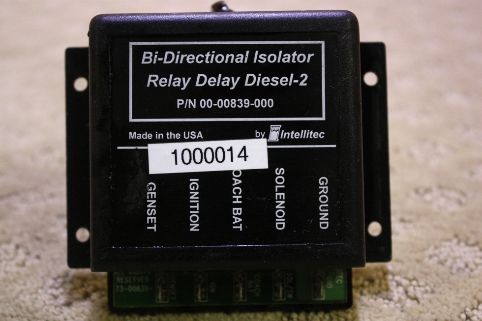 USED BI-DIRECTIONAL ISOLATOR RELAY DELAY DIESEL-2 FOR SALE RV Chassis Parts