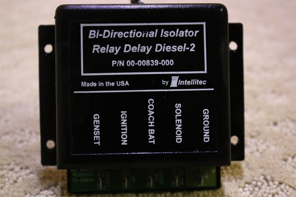 USED INTELLITEC BI-DIRECTIONAL ISOLATOR RELAY DELAY DIESEL-2 FOR SALE RV Chassis Parts