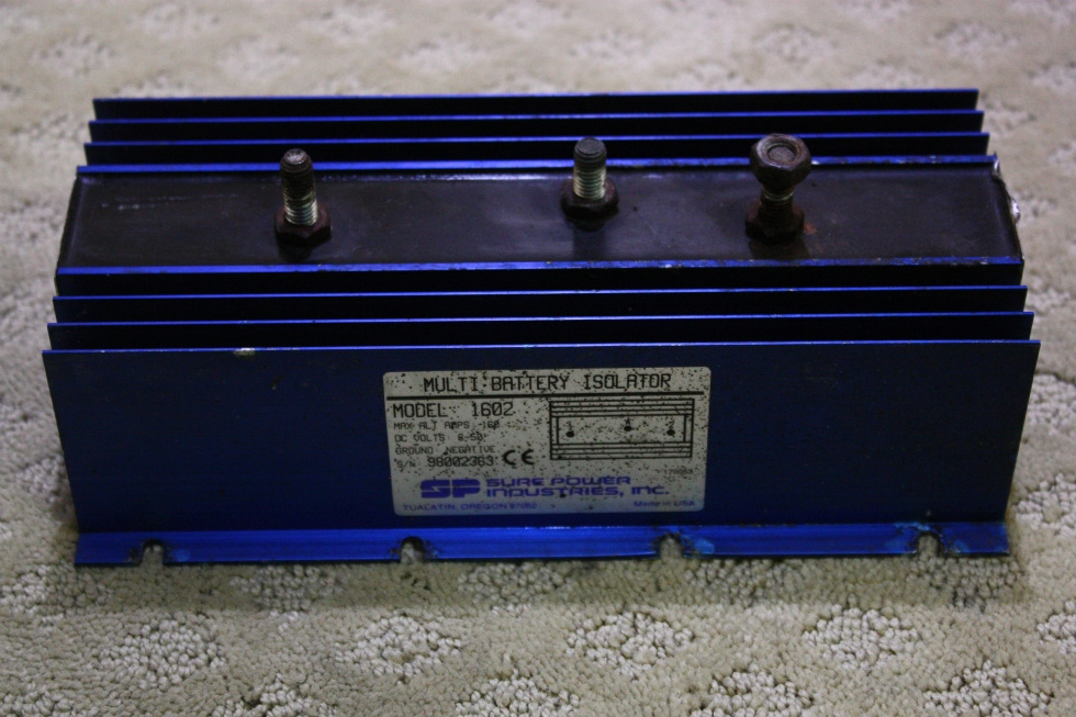 USED SURE POWER MULTI BATTERY ISOLATOR MODEL 1602 FOR SALE RV Chassis Parts