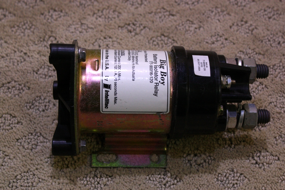 USED INTELLITEC BIG BOY BATTERY ISOLATOR RELAY P/N: 77-90006-120 RV Chassis Parts
