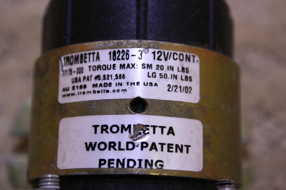 USED TROMBETTA 18226-3 FOR SALE RV Chassis Parts