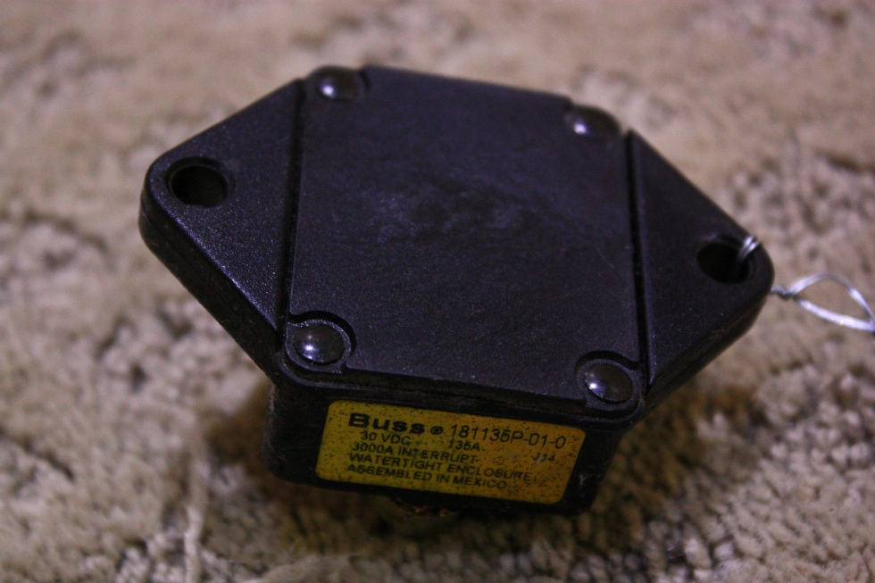 USED BUSSMANN CIRCUIT BREAKER 181135P-01-0 FOR SALE RV Chassis Parts