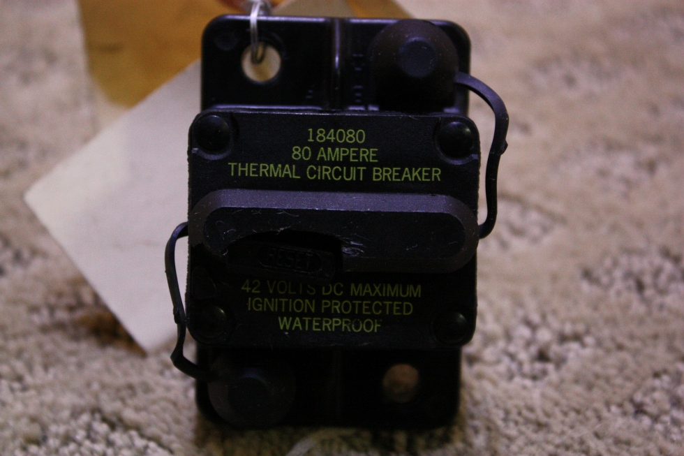 USED THERMAL CIRCUIT BREAKER 184080 FOR SALE RV Chassis Parts