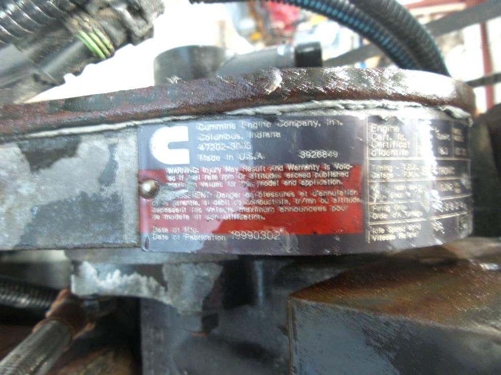 CUMMINS DIESEL ENGINE   CUMMINS ISC330 8.3L 330HP FOR SALE  RV Chassis Parts