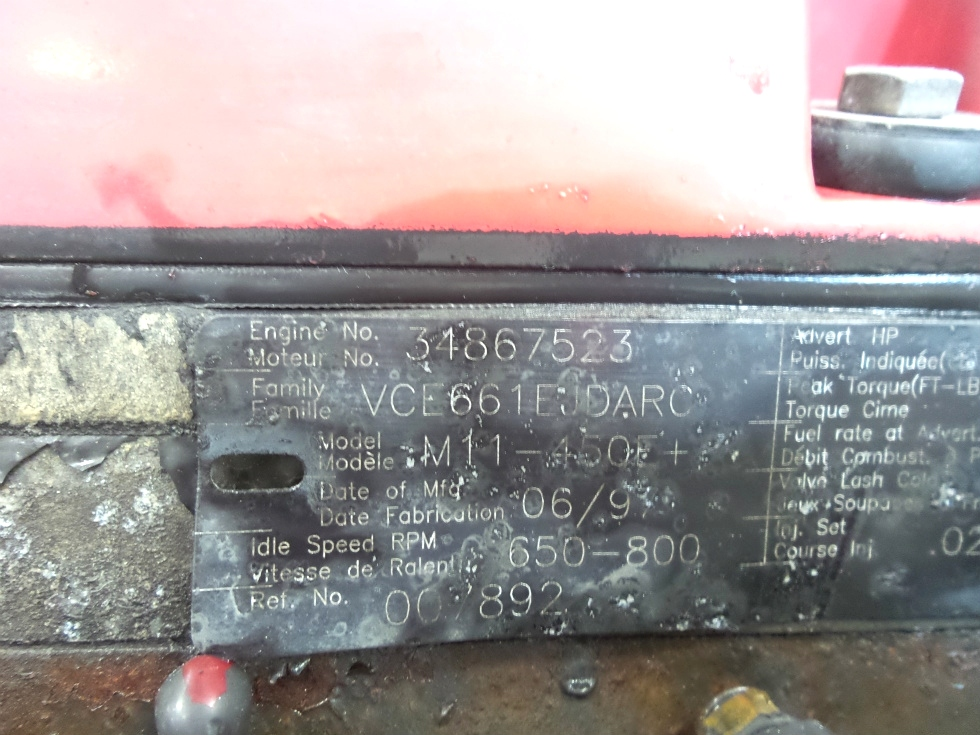 RV Chassis Parts USED CUMMINS CELECT DIESEL MOTOR | M11 450E