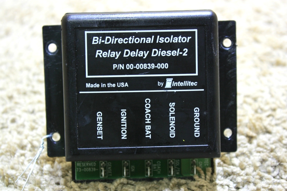 USED RV INTELLITEC DI-DIRECTIONAL ISOLATOR RELAY DELAY DIESEL 2 00-00839-000 FOR SALE RV Chassis Parts