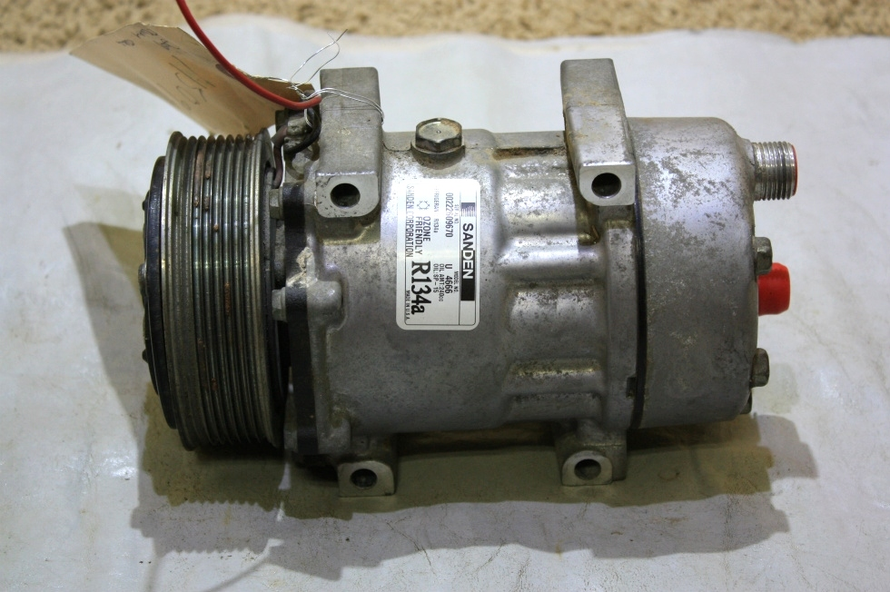 USED RV SANDEN A/C COMPRESSOR U 4666 MOTORHOME PARTS FOR SALE RV Chassis Parts