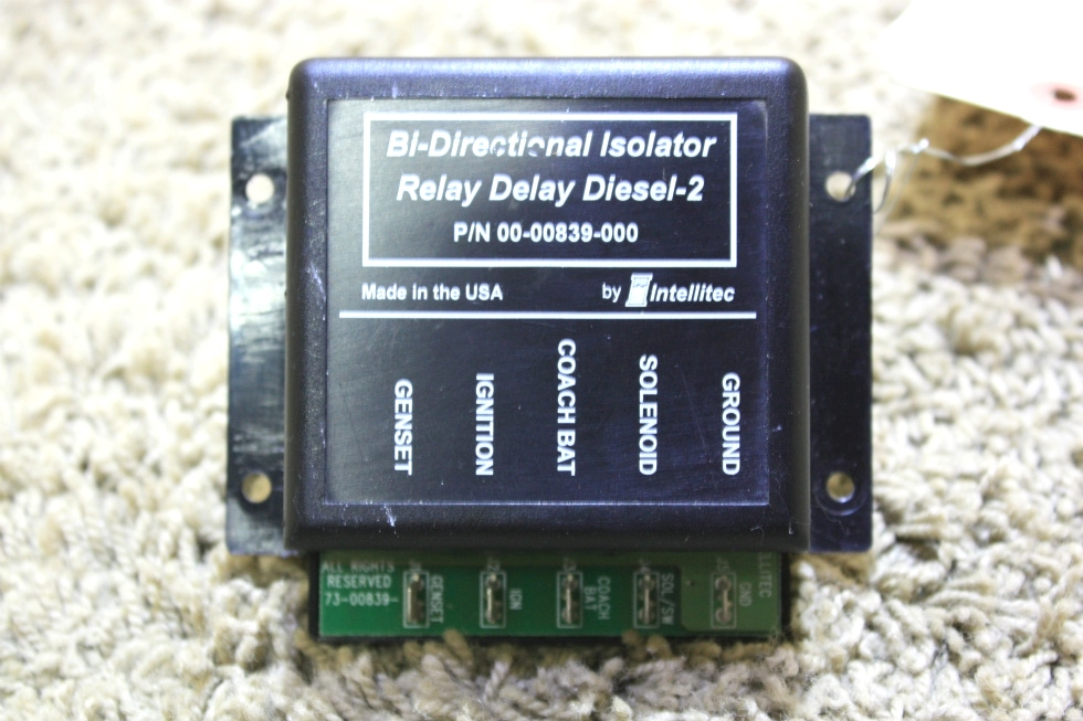 USED RV BI-DIRECTIONAL ISOLATOR RELAY DELAY DIESEL-2 00-00839-000 BY INTELLITEC FOR SALE RV Chassis Parts