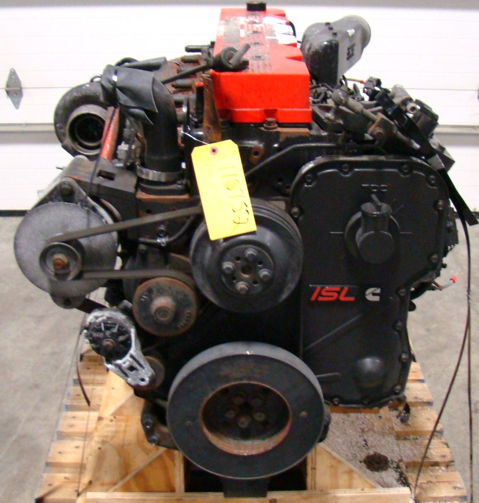 CUMMINS DIESEL ENGINE | 2002 8.8L ISL400 FOR SALE - 106,000 MILES RV Chassis Parts