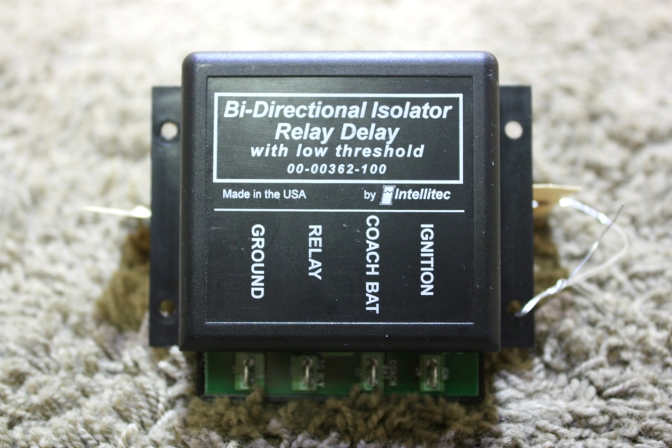 USED RV INTELLITEC BI-DIRECTIONAL ISOLATOR RELAY DELAY 00-00362-100 FOR SALE RV Chassis Parts