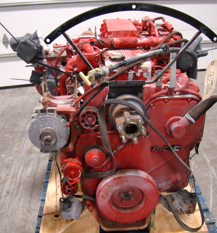 CUMMINS DIESEL ENGINE | CUMMINS ISC360 8.3L 360HP FOR SALE - 15,000 MILES  RV Chassis Parts