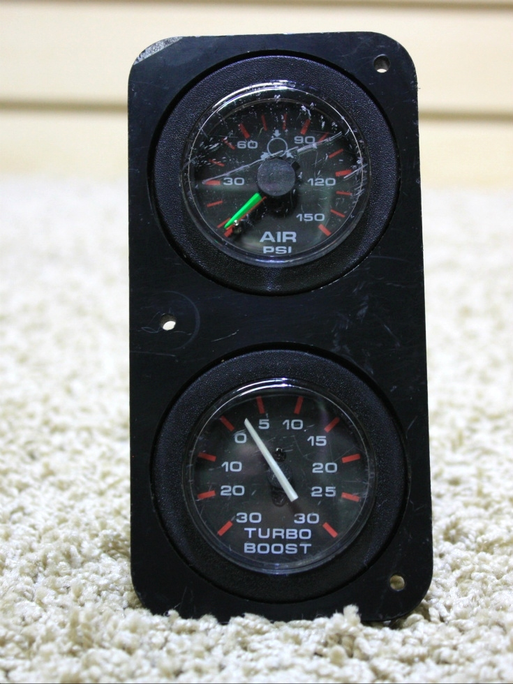 USED AIR PSI/TURBO BOOST GAUGE COMBO FOR SALE RV Components