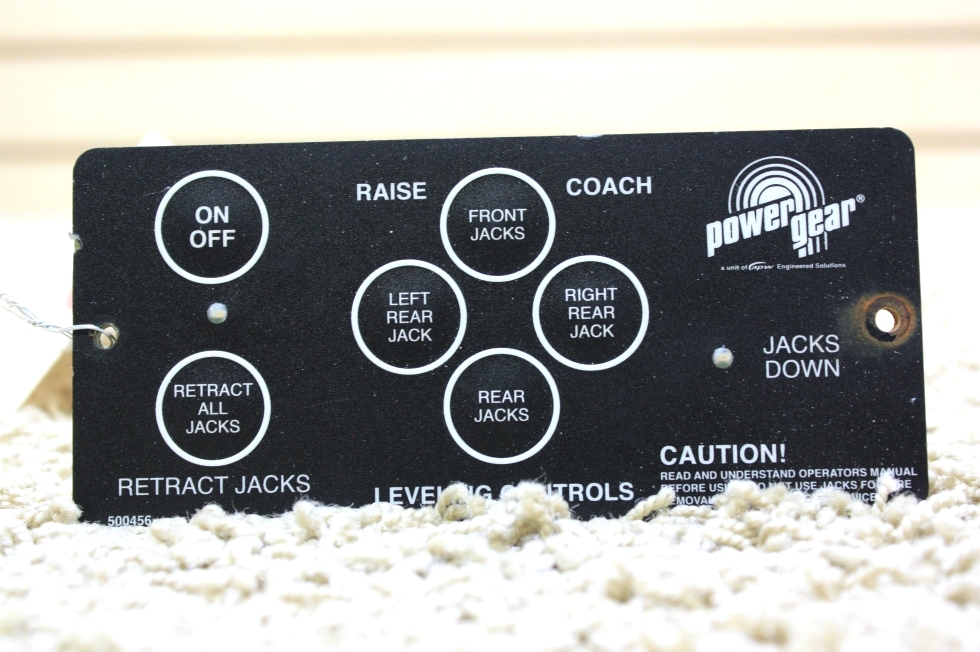 USED POWER GEAR LEVELING CONTROL TOUCH PAD 500456 FOR SALE OUT OF STOCK* RV Components