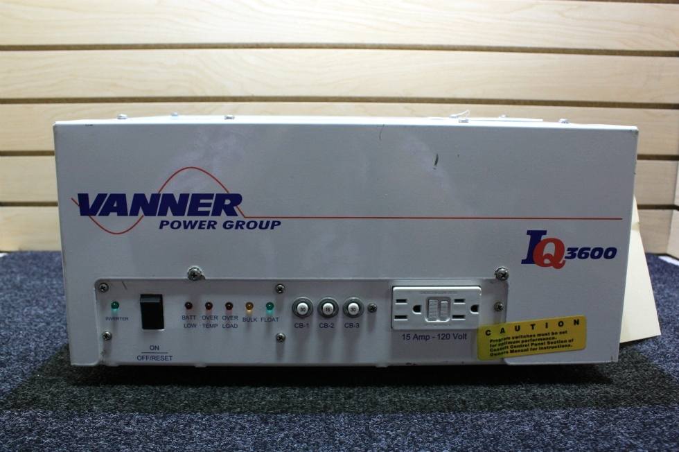 Inverters For Sale >> Rv Components Used Vanner Iq 3600 Inverter Charger With