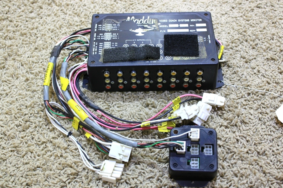 USED ALADDIN VIDEO COACH SYSTEM MONITOR WITH WIRE HARNESS FOR SALE RV Components