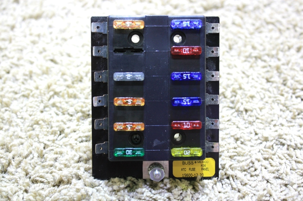 USED BUSS ATC FUSE PANEL 15600-12-20 RV PARTS FOR SALE RV Components