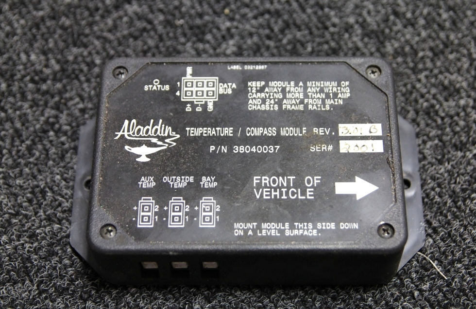 USED ALADDIN RV TEMPERATURE/COMPASS MODULE P/N: 38040037 RV Components