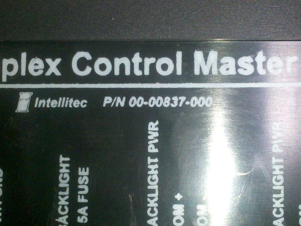 USED INTELLITEC MULTIPLEX CONTROL MASTER 00-00837-000 RV Components