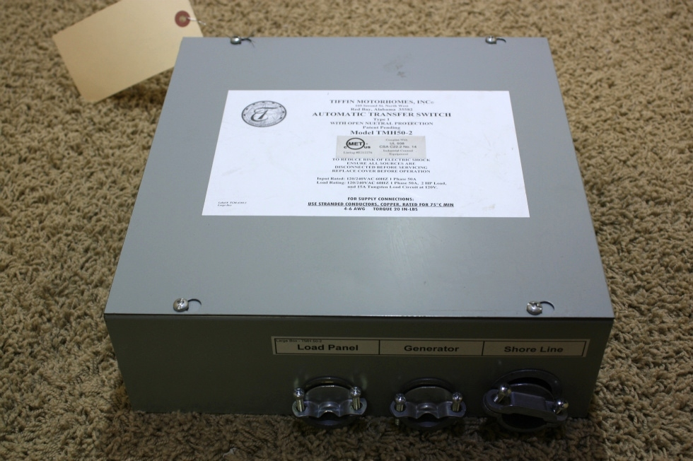 USED TIFFIN MOTORHOMES INC AUTOMATIC TRANSFER SWITCH TMH50-2 FOR SALE RV Components