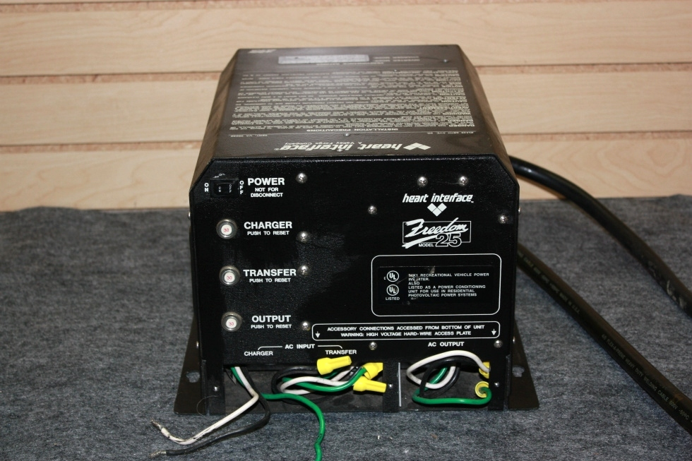 USED HEART INTERFACE FREEDOM 25 RV INVERTER/CHARGER FOR SALE RV Components
