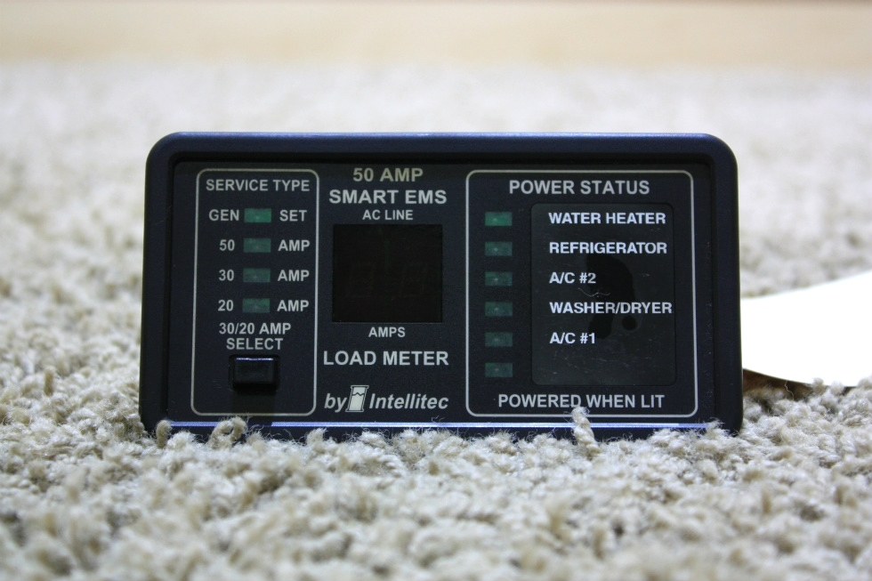USED RV 50 AMP SMART EMS DISPLAY BY INTELLITEC 00-00684-100 FOR SALE RV Components
