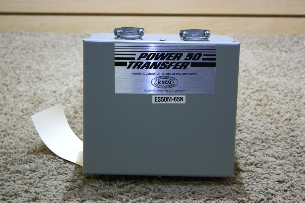 USED RV POWER 50 TRANSFER - SHORELINE TRANSFER SWITCH ES50M-65N FOR SALE RV Components