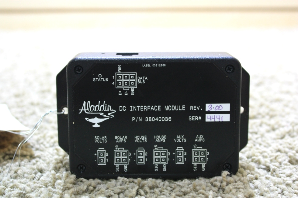 USED RV ALADDIN DC INTERFACE MODULE 38040036 MOTORHOME PARTS FOR SALE RV Components