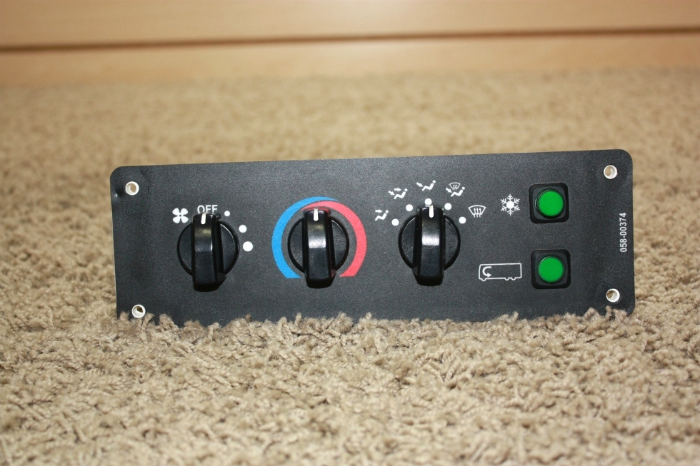 USED RV DASH A/C CONTROLS 058-00374 FOR SALE RV Components