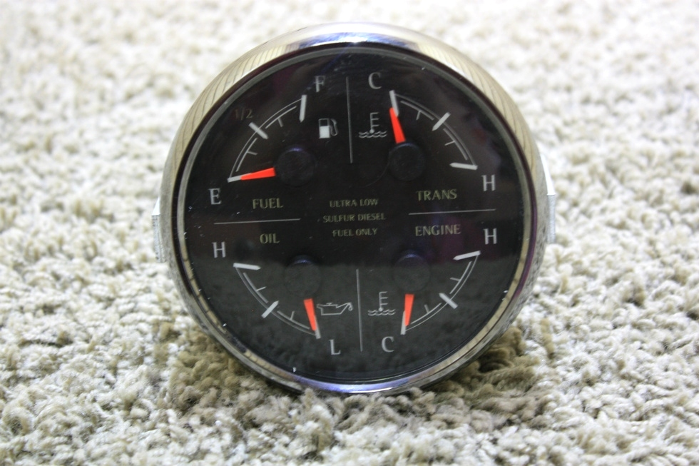 USED MOTORHOME 4 IN 1 MEDALLION DASH GAUGE 8653-50006-29 FOR SALE RV Components