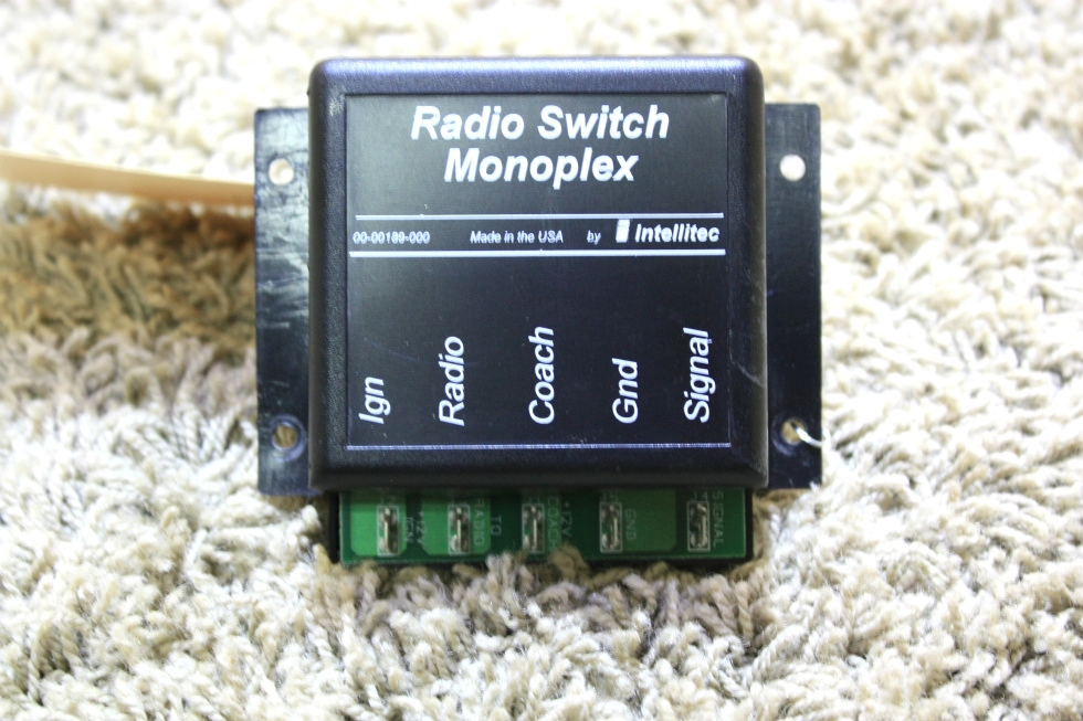 USED RV RADIO SWITCH MONOPLEX BY INTELLITEC 00-00189-000 FOR SALE RV Components