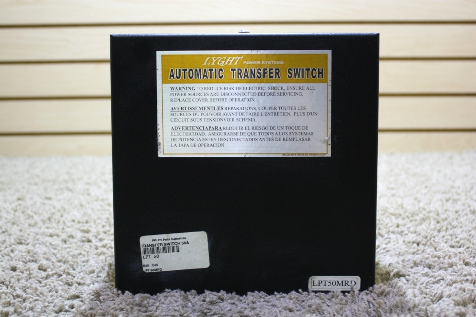 USED LYGHT POWER SYSTEM MOTORHOME AUTOMATIC TRANSFER SWITCH LPT50-MRD FOR SALE RV Components