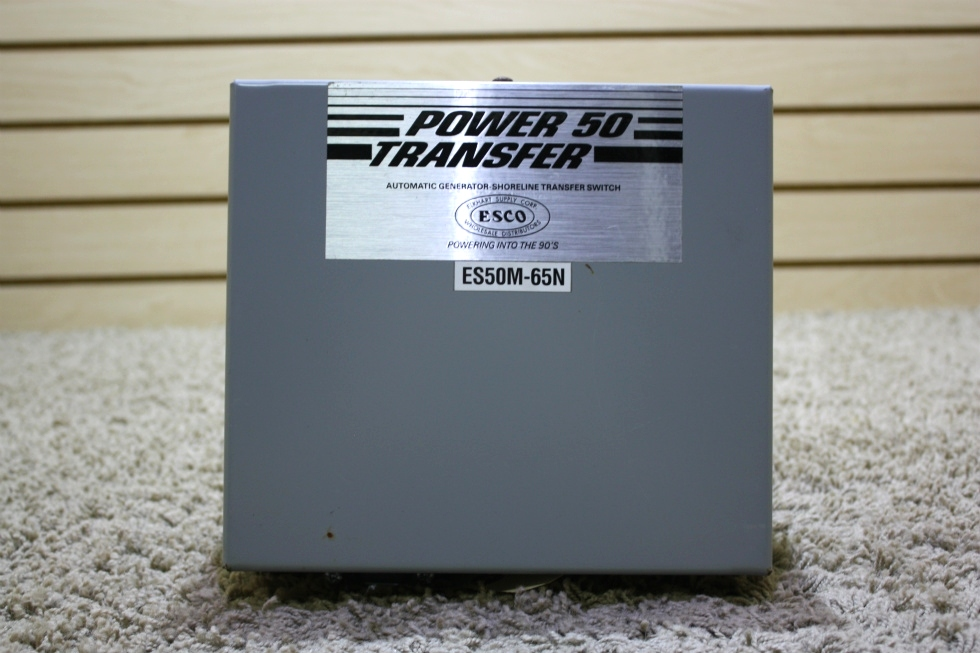 USED POWER 50 TRANSFER AUTOMATIC GENERATOR-SHORELINE TRANSFER SWITCH ES50M-65N RV PARTS FOR SALE RV Components