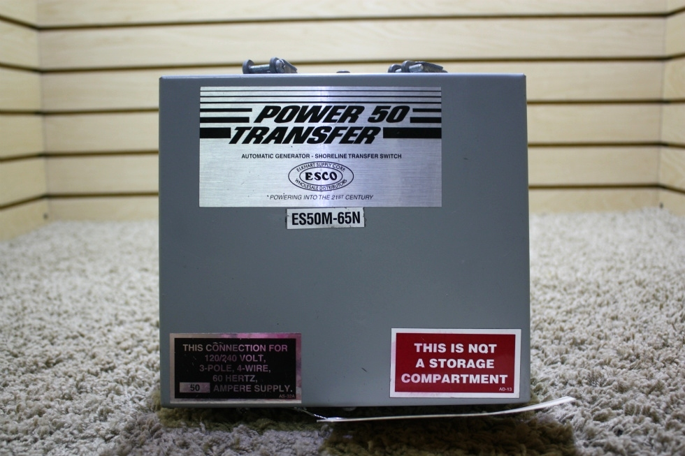 USED RV POWER 50 TRANSFER AUTOMATIC TRANSFER SWITCH ES50M-65N FOR SALE RV Components