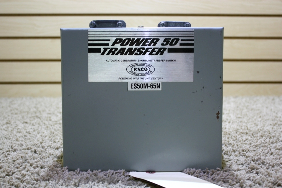 USED POWER 50 TRANSFER AUTOMATIC GENERATOR-SHORELINE TRANSFER SWITCH ES50M-65N FOR SALE RV Components