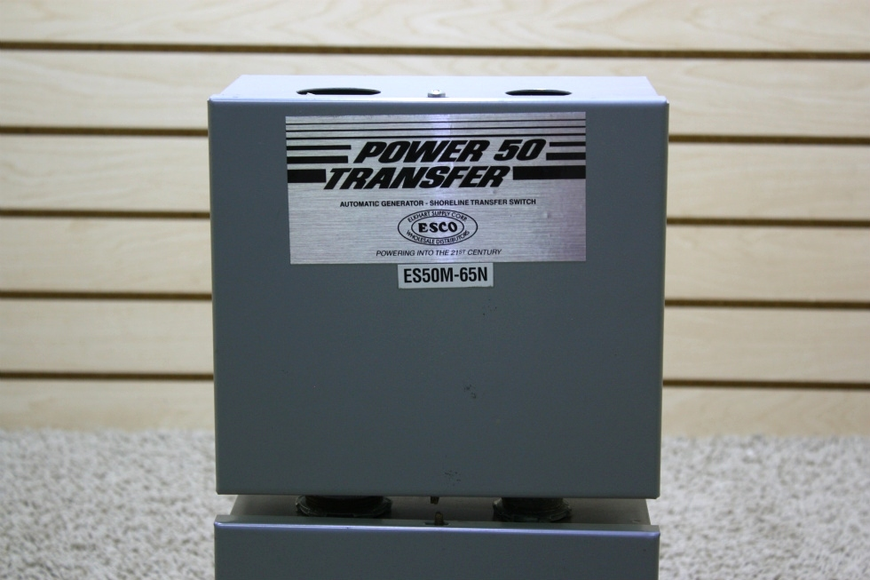 USED MOTORHOME POWER 50 TRANSFER AUTOMATIC GENERATOR - SHORELINE TRANSFER SWITCH FOR SALE RV Components