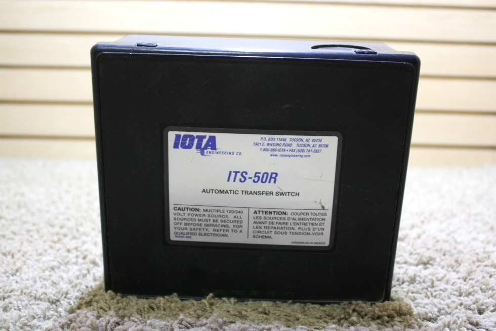 USED IOTA ITS-50R AUTOMATIC TRANSFER SWITCH RV PARTS FOR SALE RV Components