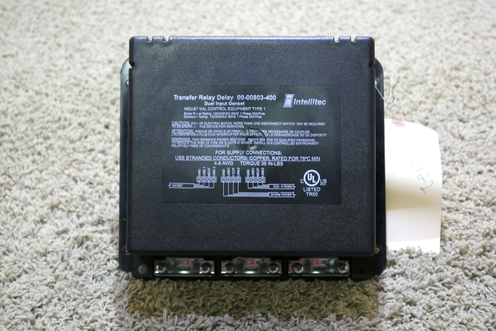 USED RV INTELLITEC TRANSFER RELAY DELAY 00-00803-400 FOR SALE RV Components