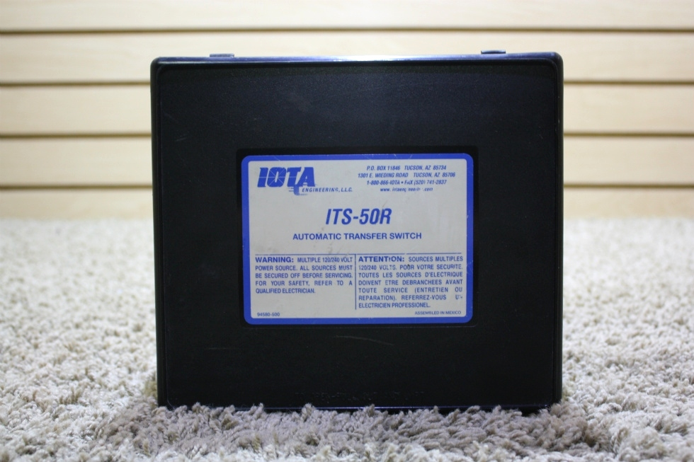 USED MOTORHOME IOTA ITS-50R AUTOMATIC TRANSFER SWITCH FOR SALE RV Components