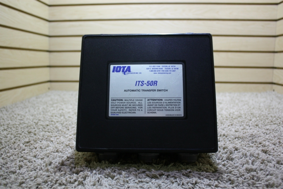 USED IOTA AUTOMATIC TRANSFER SWITCH MODEL: ITS-50R RV/MOTORHOME PARTS FOR SALE RV Components