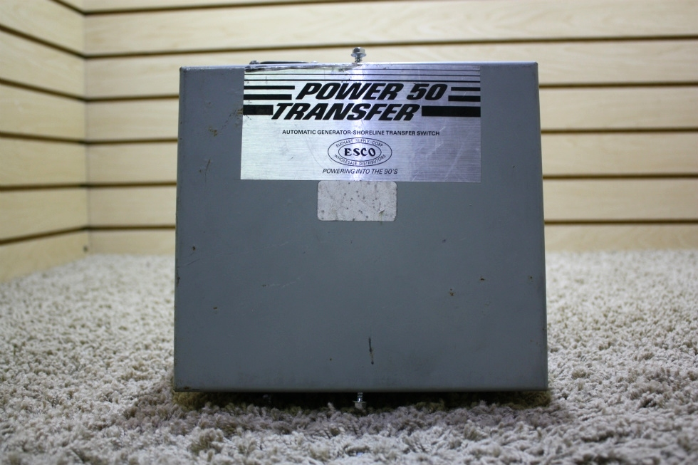 USED MOTORHOME POWER 50 TRANSFER AUTOMATIC GENERATOR - SHORELINE TRANSFER SWITCH ES50M-65N FOR SALE RV Components