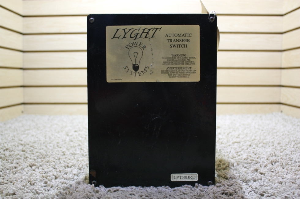 USED RV LYGHT POWER SYSTEMS AUTOMATIC TRANSFER SWITCH LPT50BRD FOR SALE RV Components