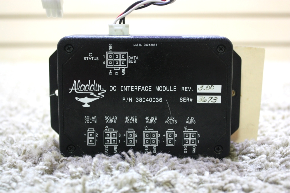 USED MOTORHOME ALADDIN DC INTERFACE MODULE 38040036 FOR SALE RV Components