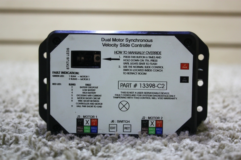 USED RV DUAL MOTOR SYNCHRONOUS VELOCITY SLIDE CONTROLLER 13398-C2 FOR SALE RV Components