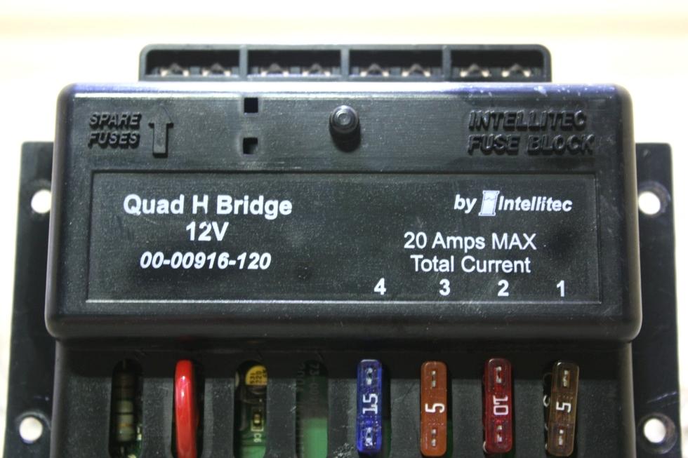 USED MOTORHOME QUAD H BRIDGE 12V BY INTELLITEC 00-00916-120 FOR SALE RV Components