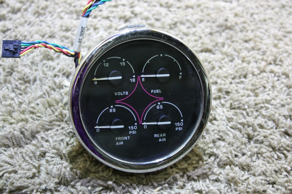 USED SPARTAN 4 IN 1 00041370DASH GAUGE RV PARTS FOR SALE RV Components