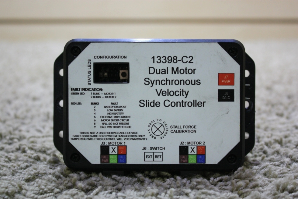 USED 13398-C2 DUAL MOTOR SYNCHRONOUS VELOCITY SLIDE CONTROLLER MOTORHOME PARTS FOR SALE RV Components