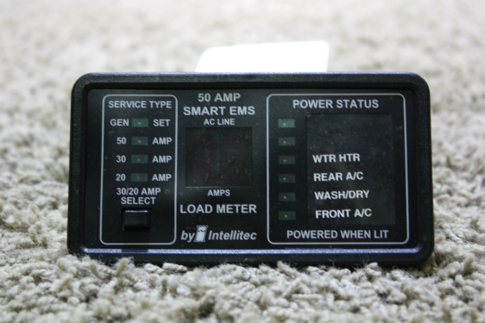 USED RV 50AMP SMART EMS DISPLAY BY INTELLITEC 00-00903-150 FOR SALE RV Components
